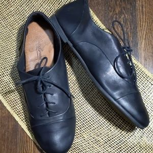 Lucky brand Davie black leather lace up oxford